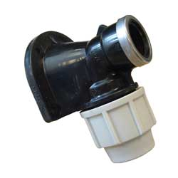 PLASSON 7750 WALL PLATE ELBOW FITTING