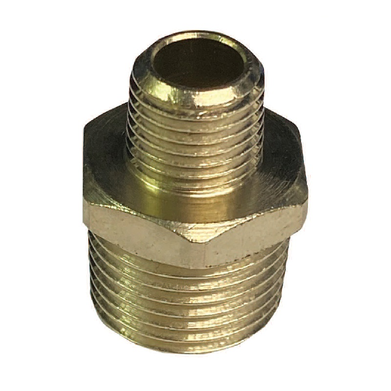 C-MATIC BRASS NICKEL PLATED HEX NIPPLE (TAPER)