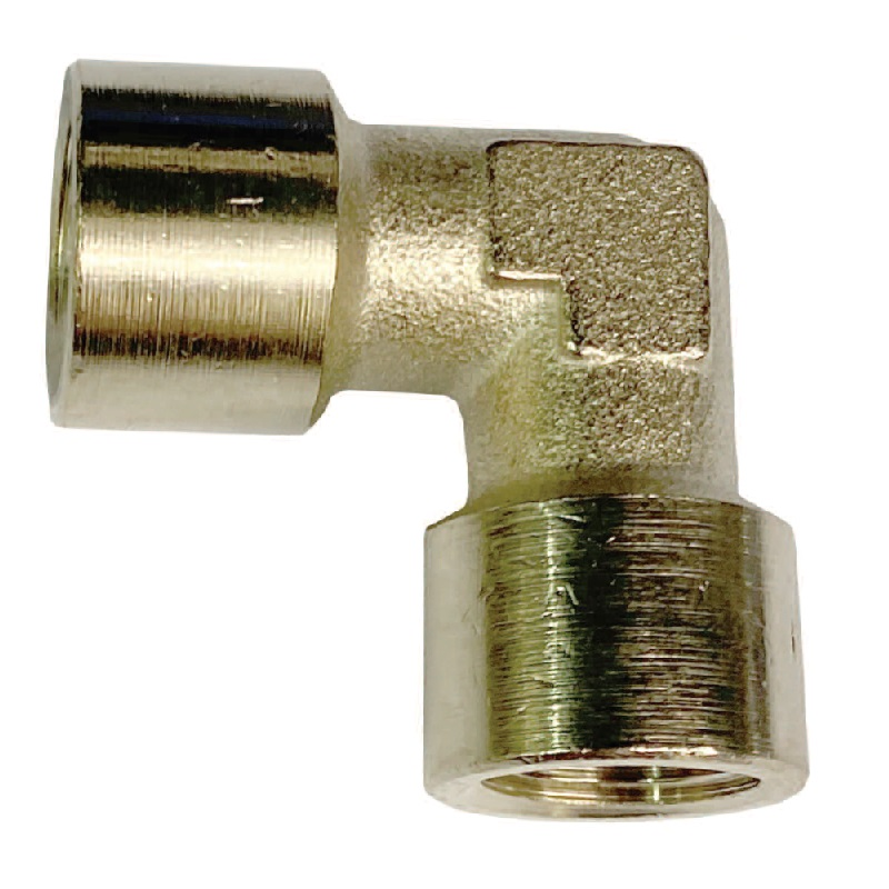 C-MATIC BRASS NICKEL PLATED FEMALE ELBOW