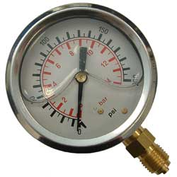 63MM GLYCERINE FILLED PRESSURE GAUGES
