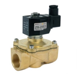 ZS Series 2 Port, 2 Way Solenoid Valves FPM (viton) Seals & Brass Bodies, Zero Pressure Differential, Normally Closed