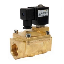 SLP Series 2 Port, 2 Way Solenoid Valves, Nitrile Seals & Brass Bodies, Normally Closed