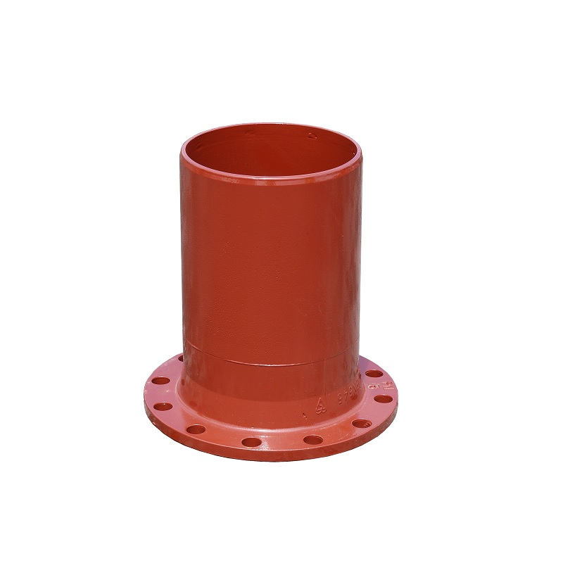 100MM NP16 DUCTILE IRON FLANGED SPIGOT PIPE X 1000MM LONG EN598 RED EPOXY COATED