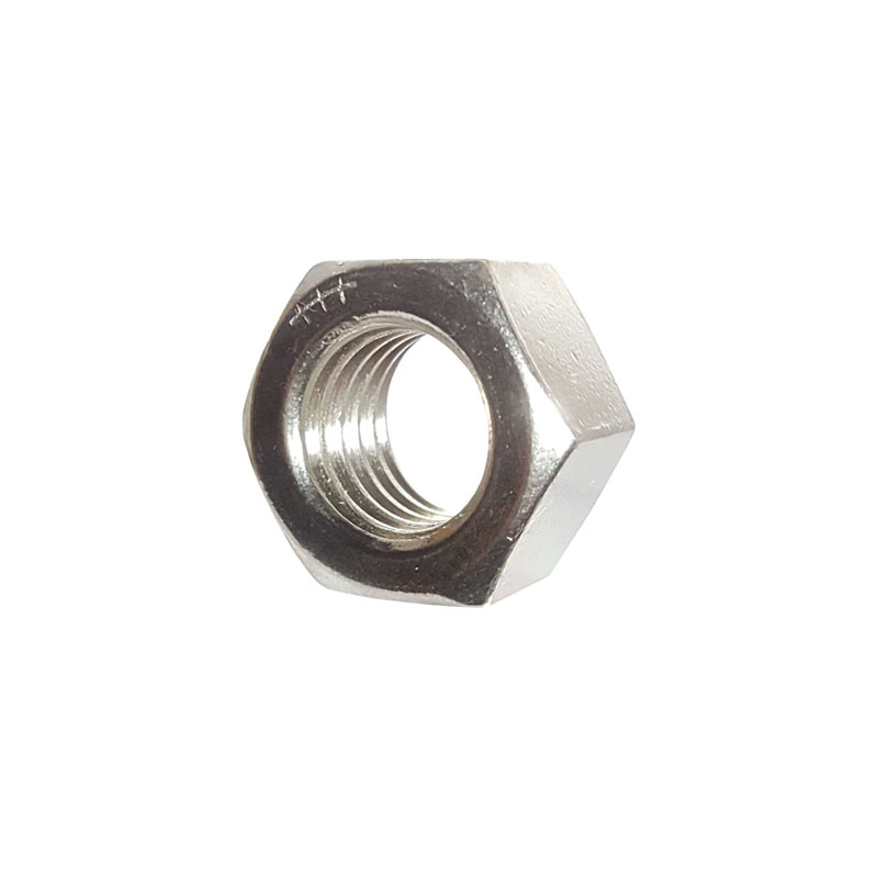 "7/16"" UNF C/F HEX FULL NUT BS1768 GR.1 BZP"