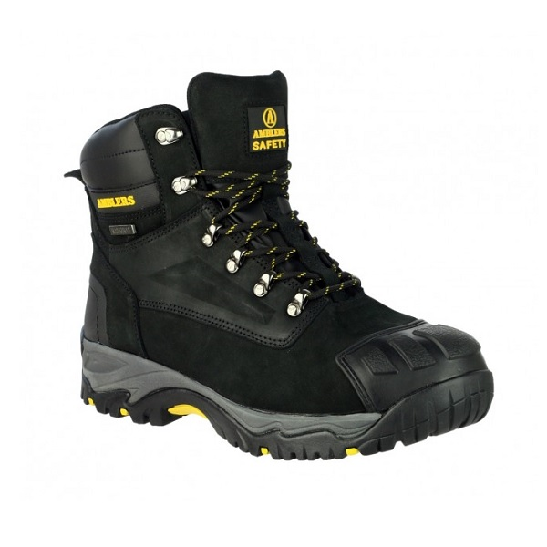 AMBLERS FS987 BLACK WATERPROOF SAFETY BOOTS