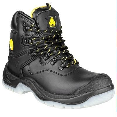 AMBLERS FS198 BLACK WATERPROOF SAFETY BOOTS