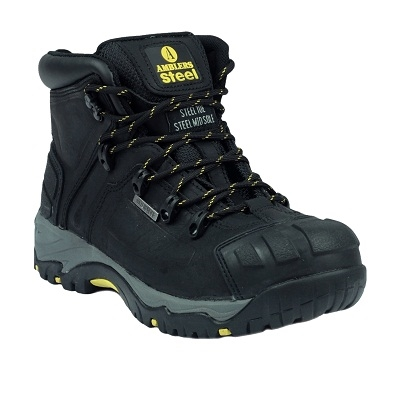 AMBLERS FS32 WATERPROOF BLACK SAFETY BOOTS