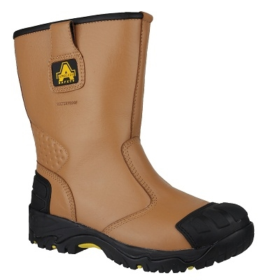 AMBLERS FS143 TAN SAFETY RIGGER BOOTS