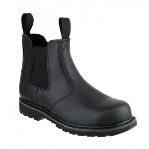 AMBLERS FS5 BLACK SAFETY DEALER BOOTS