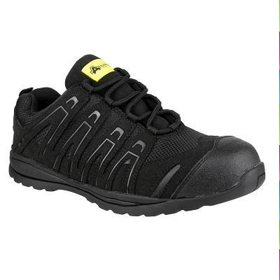 AMBLERS BLACK COMPOSITE SAFETY TRAINERS