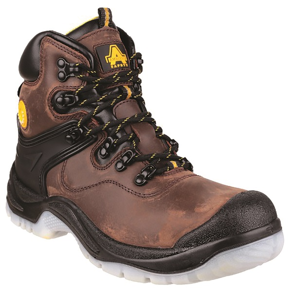 AMBLERS FS197 WATERPROOF BROWN SAFETY BOOTS