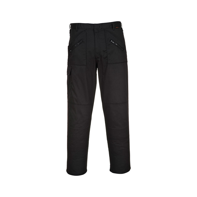"PORTWEST BLACK ACTION TROUSERS TALL 33"" IL S887"