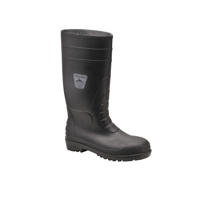 PORTWEST FW95 BLACK SAFETY WELLINGTONS
