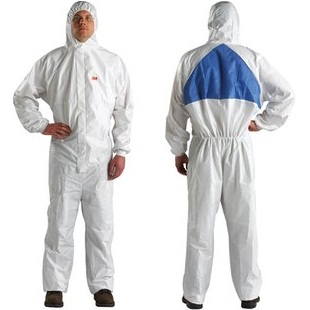 3M 4540 WHITE PROTECTIVE COVERALL