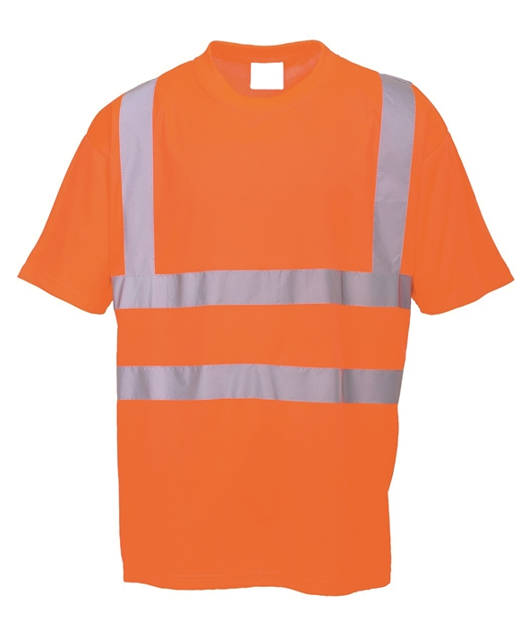 HI-VIS ROUND NECK T-SHIRT - ORANGE