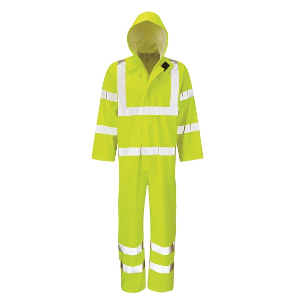 XXX-LARGE YELLOW HYDRA-FLEX WATERPROOF HI-VIS BOILERSUIT
