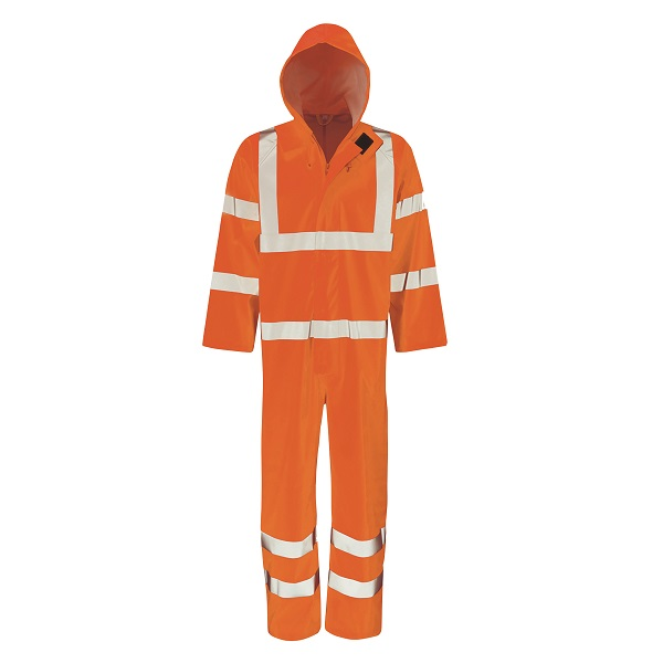 SMALL ORANGE HYDRA-FLEX WATERPROOF HI-VIS BOILERSUIT