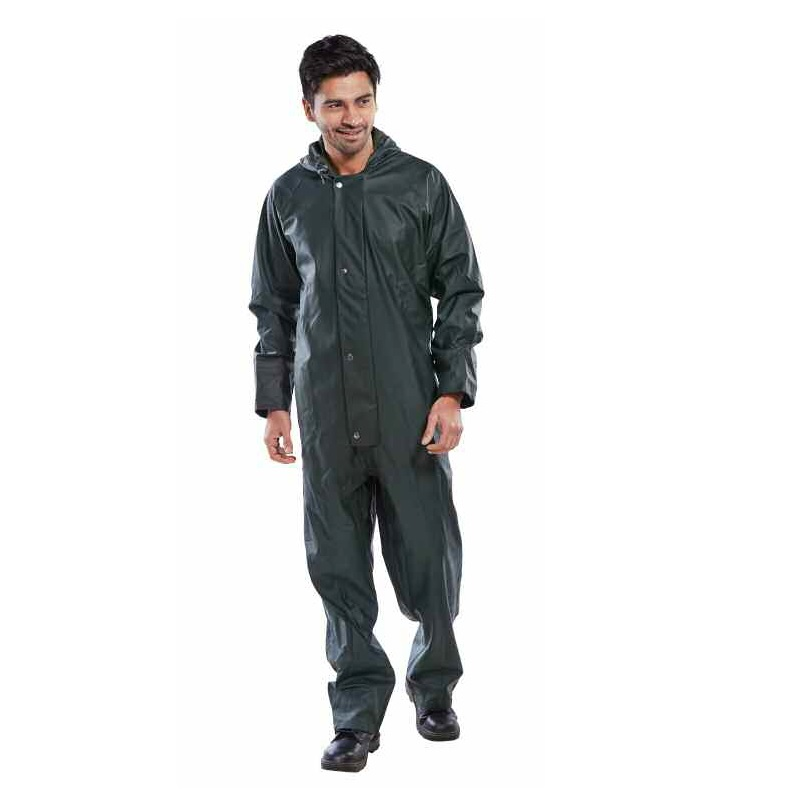 GREEN ONE PIECE T/COATED PU WATERPROOF SUIT LARGE