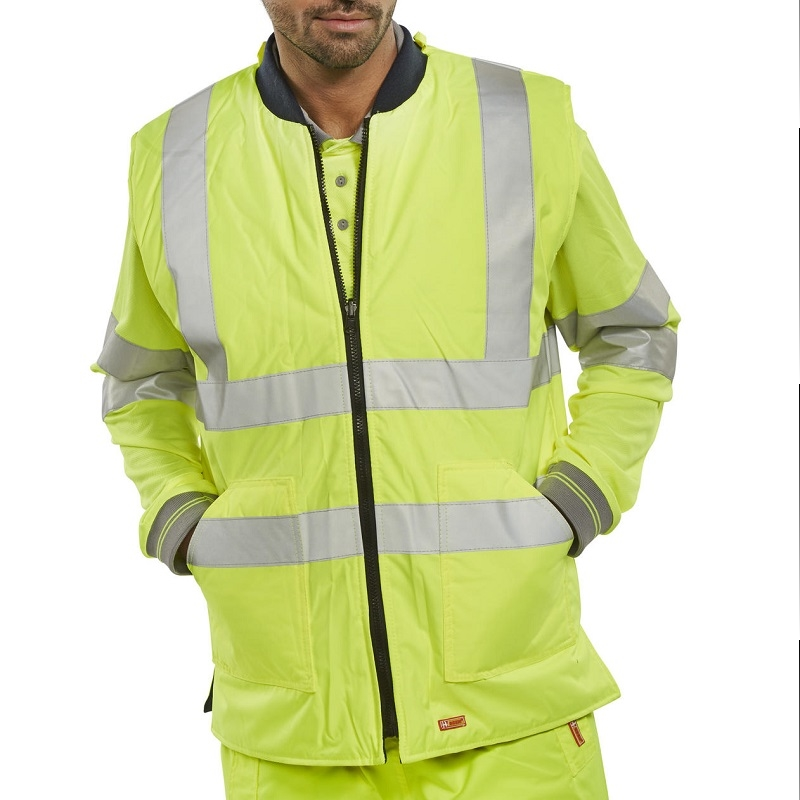 HI-VIS REVERSIBLE BODYWARMER - YELLOW
