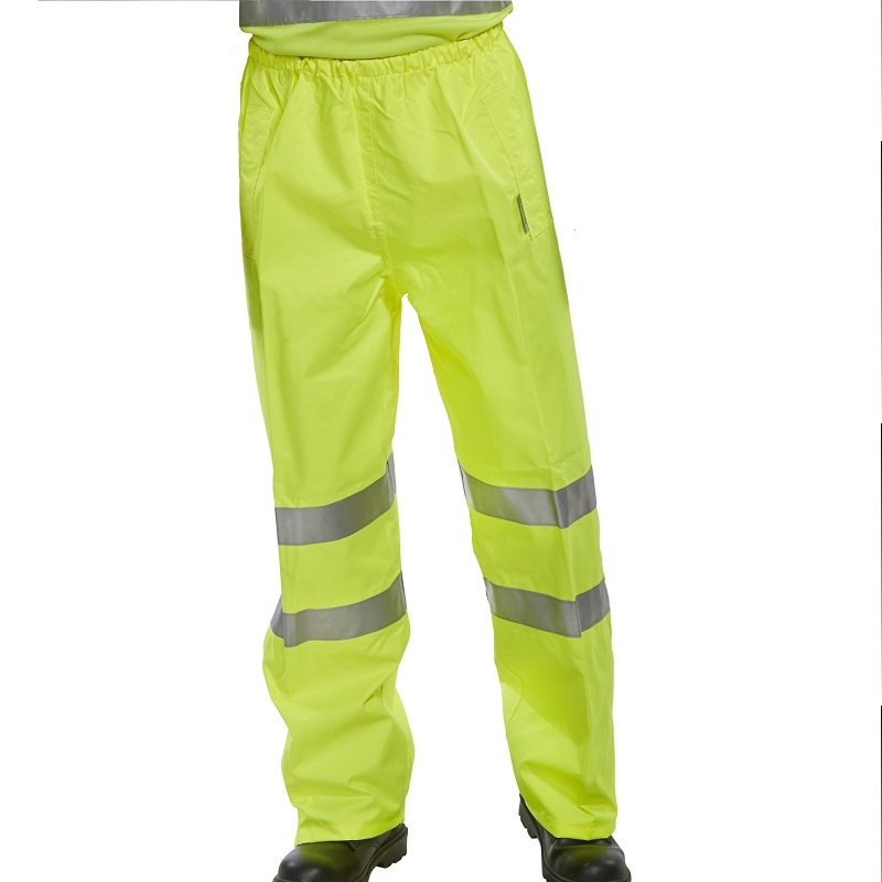 Waterproof High-Vis Overtrousers - Class 1