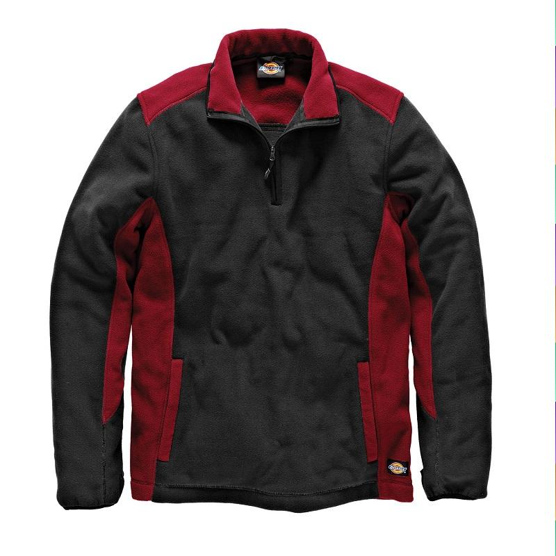 DICKIES TWO-TONE MICRO FLEECE, RED AND BLACK