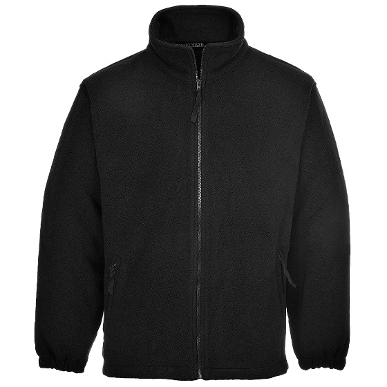 MEDIUM BLACK PORTWEST FLEECE JACKET
