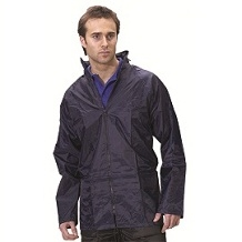 MEDIUM NAVY PVC/NYLON WATERPROOF JACKET