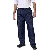 MEDIUM NAVY PVC/NYLON WATERPROOF  TROUSERS