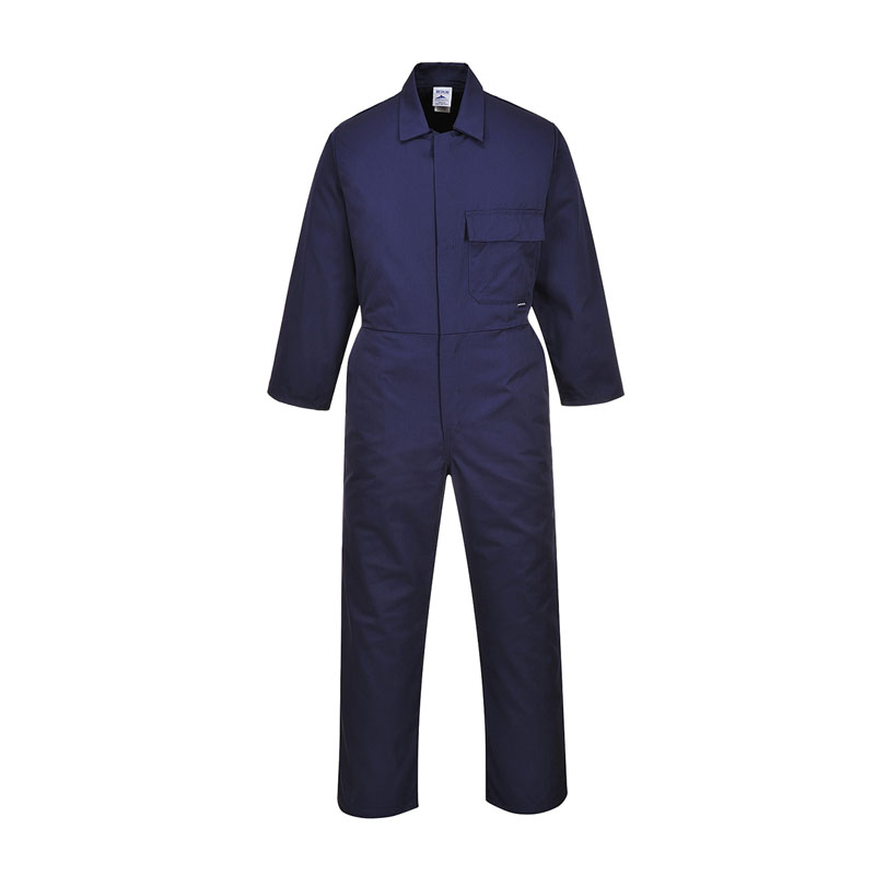 PORTWEST NAVY STUD COVERALL TALL