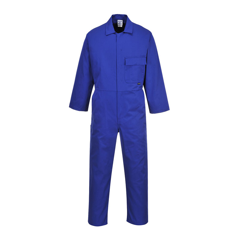 DICKIES REDHAWK STUD FRONT COVERALL WD4829 - ROYAL BLUE REGULAR