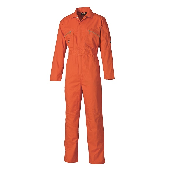 DICKIES ORANGE REDHAWK ZIP FRONT COVERALL WD4839 - TALL