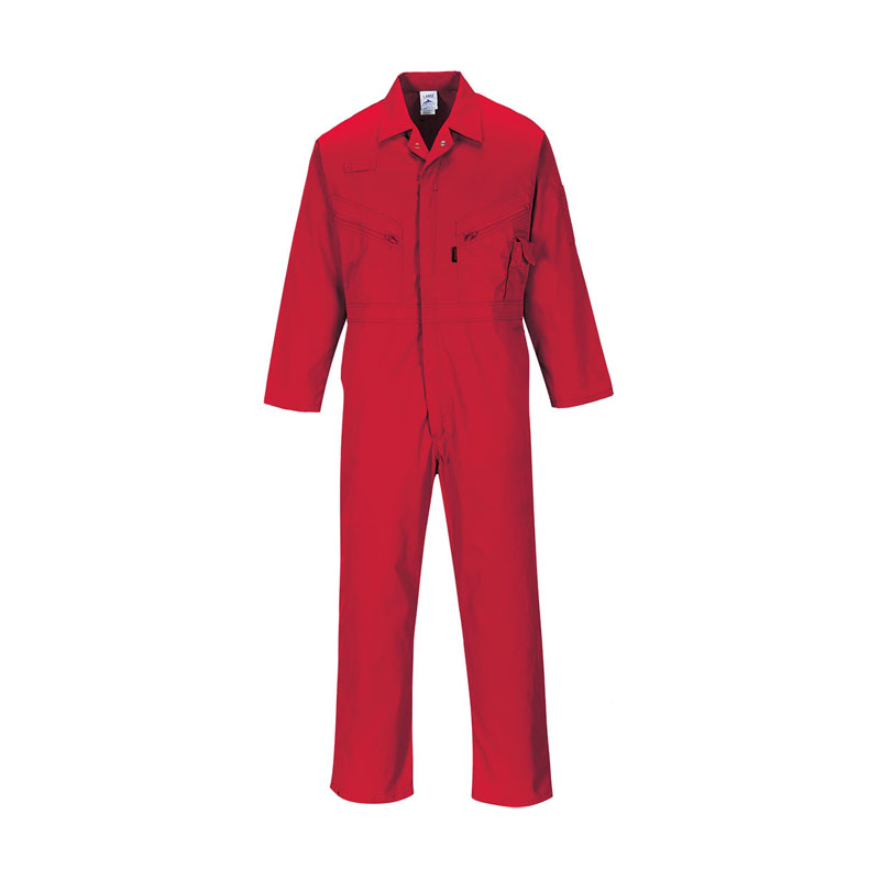 DICKIES RED REDHAWK ZIP FRONT COVERALL WD4839 - REG