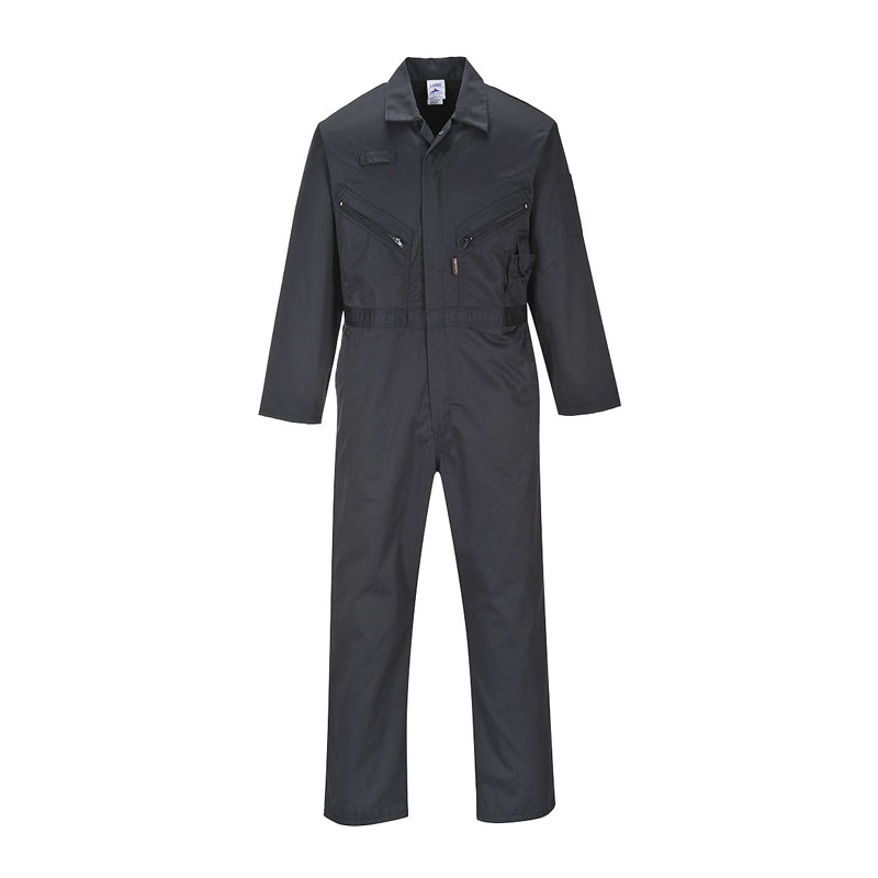 "BLACK PORTWEST LIVERPOOL ZIP COVERALL REGULAR 31"" IL C813"