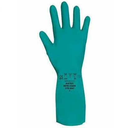 POLYCO MATRIX NITRI-CHEM SYNTHETIC RUBBER GLOVE SIZE 9