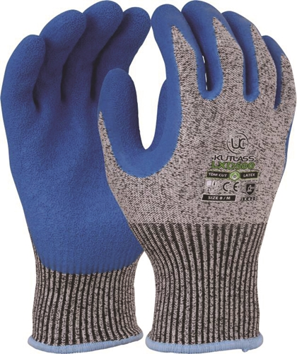 SIZE 10 KUTLASS BLUE/GREY CUT GLOVES