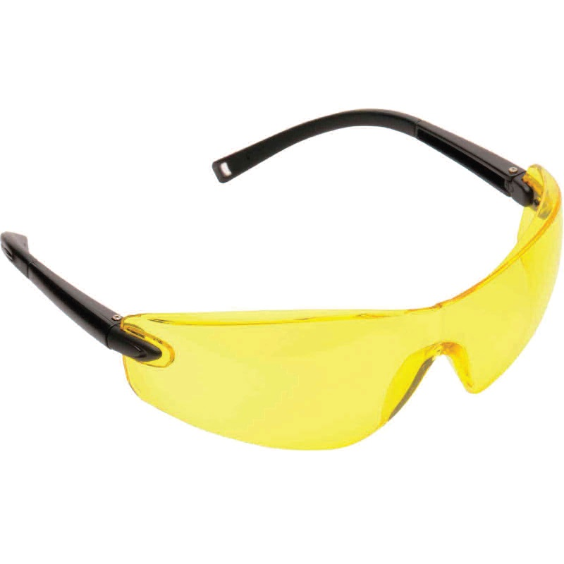 PORTWEST PW34 SAFETY GLASSES AMBER LENSC/W NECK CORD