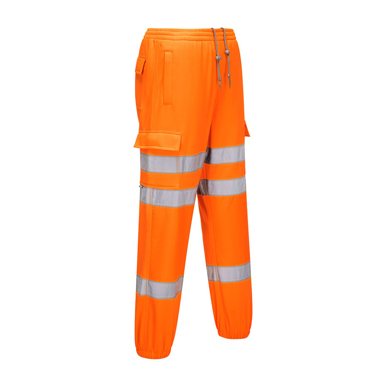 MEDIUM  DICKIES SA2008 HI-VIS JOGGERS - ORANGE/NAVY