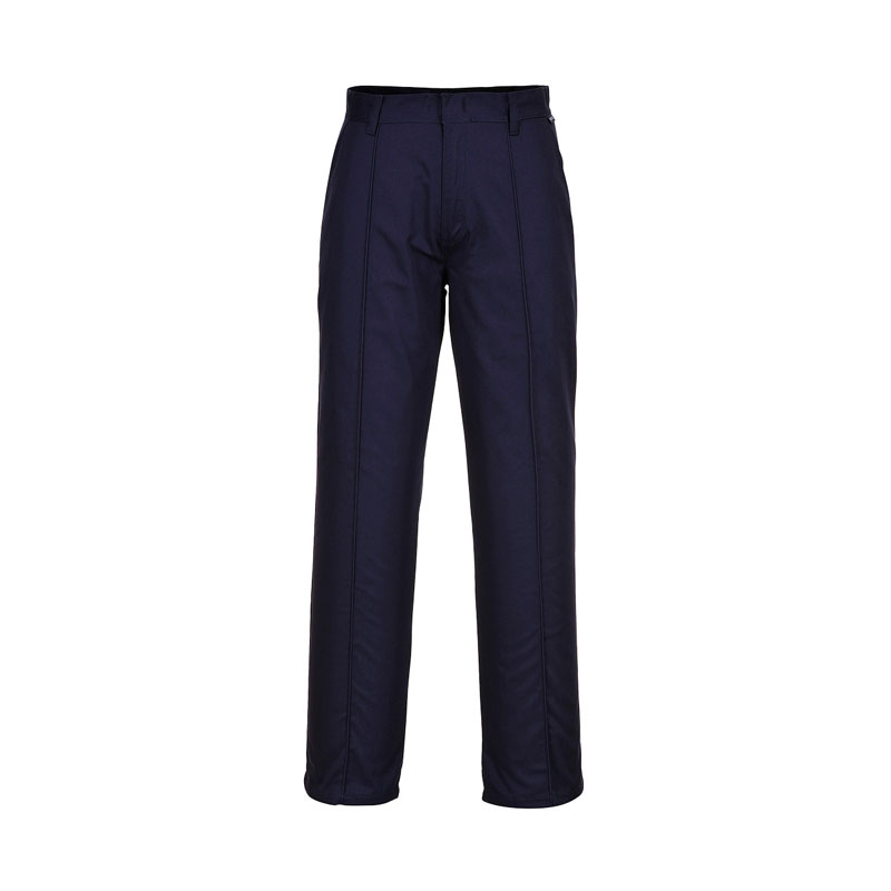 NAVY PORTWEST PRESTON WORK TROUSERS - TALL