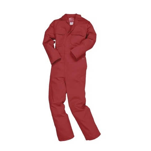 "Bizweld Coverall Red Flame Retardant Tall 33""i/l"