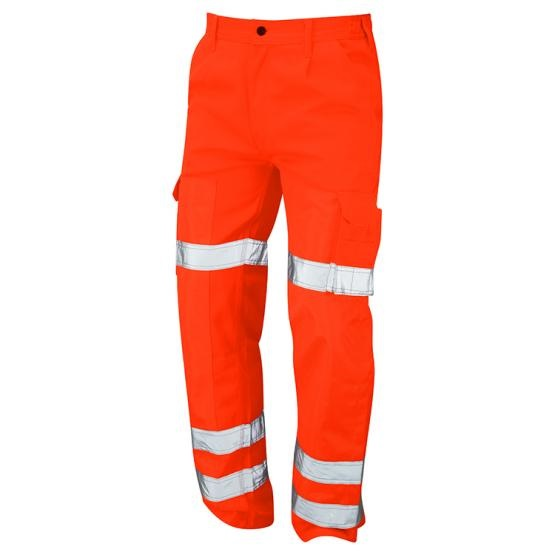 "34"" HI-VIS ORANGE/NAVY BALLISTIC TROUSERS REGULAR LEG"