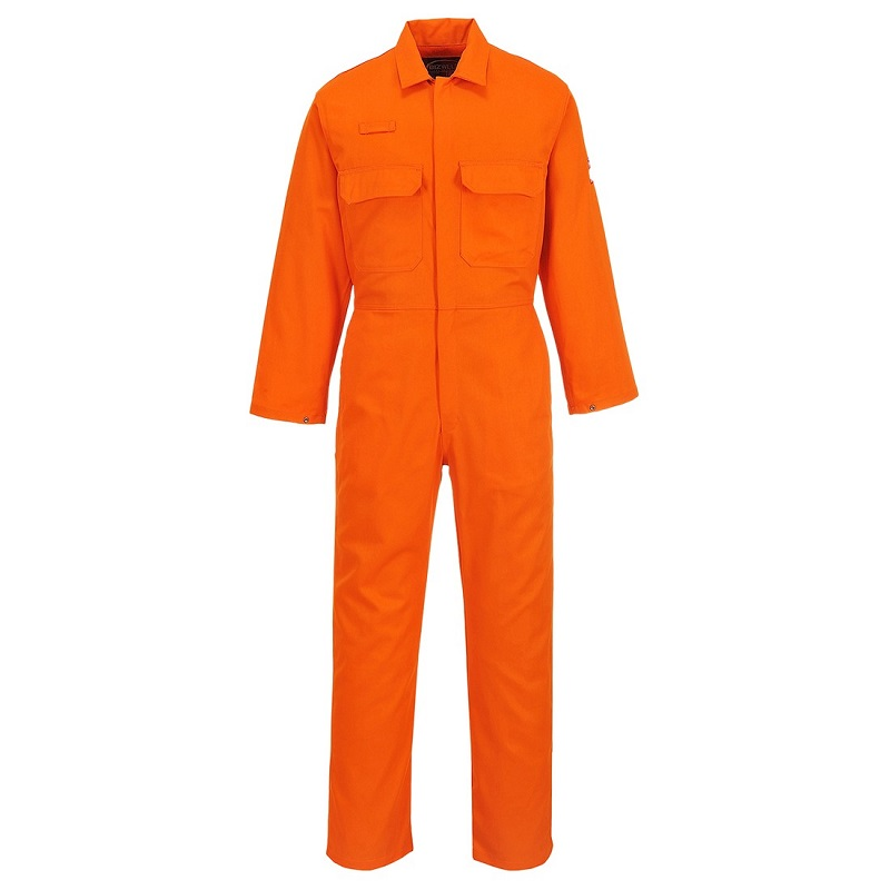 PORTWEST BIZWELD FLAME RESISTANT COVERALL - ORANGE REGULAR