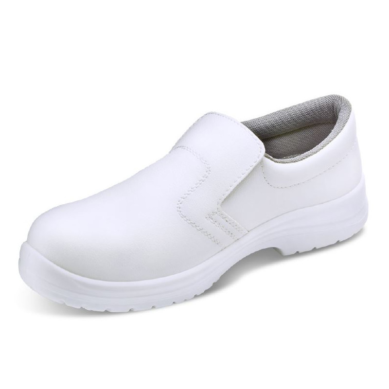 WHITE SLIP-ON SAFETY SHOES FW81