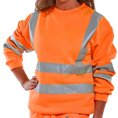 HI-VIS ORANGE SWEATSHIRT EN ISO 20471 CLASS 3