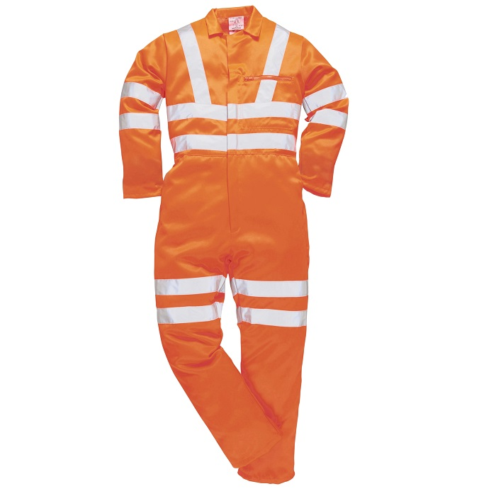PORTWEST RT42 HI-VIS POLYCOTTON BOILERSUIT - ORANGE REGULAR LEG