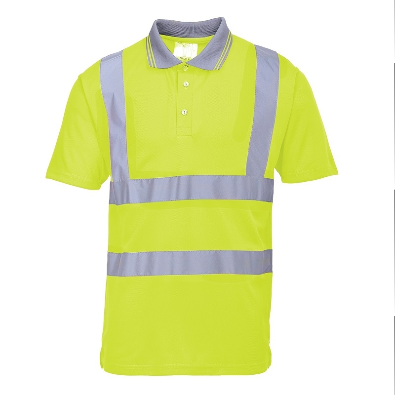 HI-VIS SHORT SLEEVE POLO SHIRT - YELLOW