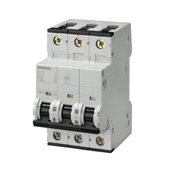 Siemens Triple Pole Mini Circuit Breaker Type 'd'