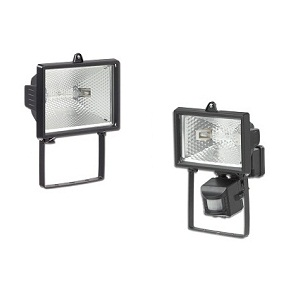 Tungsten xenon/halogen Floodlights (pir Sensor Optional)