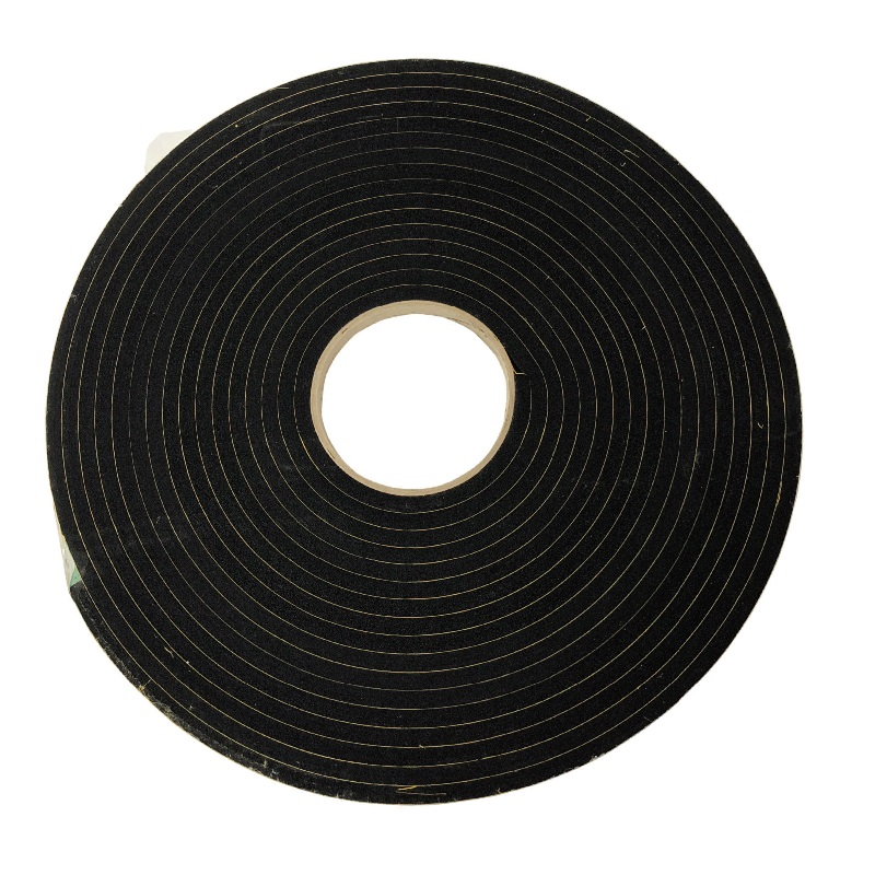75MM WIDE X 3MM THICK NEOPRENE SPONGE 580 ADHESIVE BACKED MUST BE AMBER BACKED PRICE PER METER SOLD IN 10MTR COILS