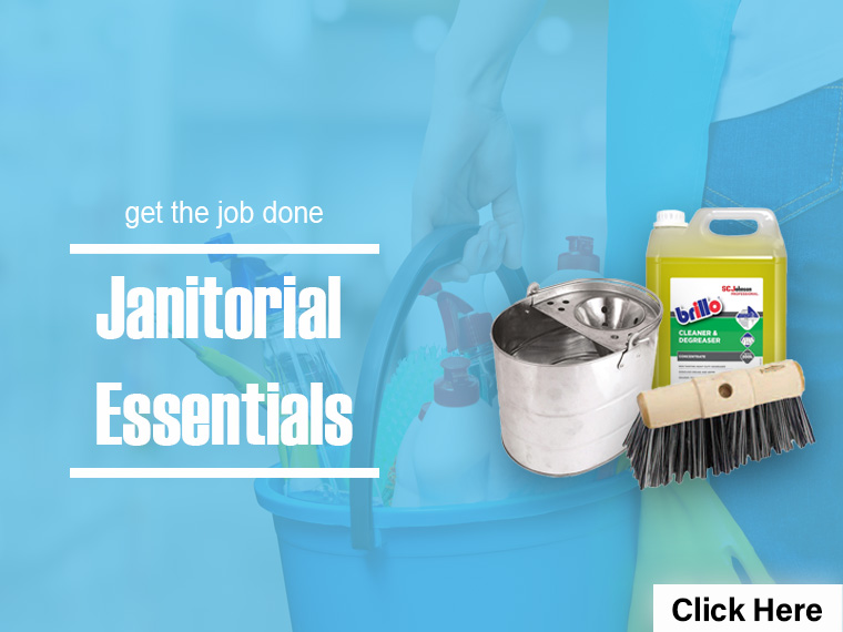 FWB Janitorial Essentials Mobile Bucket Brush Cleaner